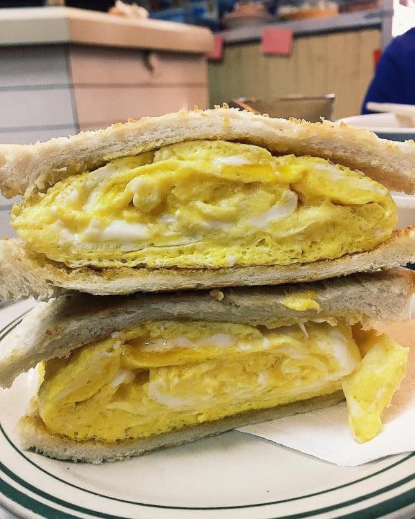 香港特色雞蛋三文治嘉樂冰廳